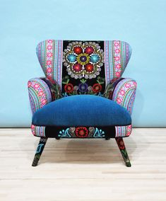 RESERVED Suzani armchair  turquoise by namedesignstudio on Etsy, $1500.00