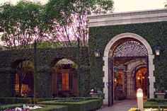 The entrance of Villa Siena with a sunset in the background | villasiena.cc