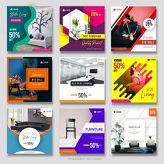 Modern_furniture social media post collection for marketing Premium Vector Your search stop here. Start make money from home now. Social Media Branding, Social Media Poster, Social Media Banner, Social Media Template, Social Media Design, Social Media Marketing, Poster Architecture, Instagram Banner, Web Design