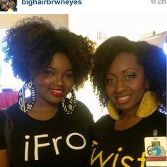 @charyjay and @bighairbrwneyes showing much support  at Fro Fashion     Week ! Looking good ladies. We appreciate ya ! #naturallysupreme#natsupreme#IFRO#ITWIST#style#fashion