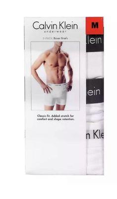 062a3b6d4255 NWT Calvin Klein Men's White Boxer Briefs Classic Fit Medium Factory Sealed  #fashion #clothing