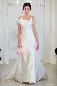 angel sanchez bridal 2014 wedding dress crumb catcher neckline straps