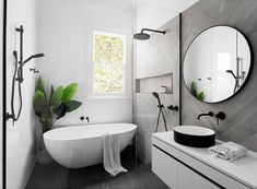 There are endless options when it comes to bathroom renovations. If you're thinking about renovating your powder room, ensuite, or main bathroom at all this year, you're probably wondering what's trending. Check out our favourite bathroom trends Contemporary Bathroom, Laundry In Bathroom, Wet Room Bathroom, Interior, Bathroom Makeover, Bathroom Trends, Bathroom Layout, House Interior, Bathroom Inspiration