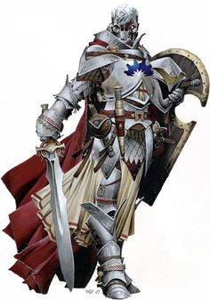 knight paladin sword armor character rpg Warforged D Wizards warforged