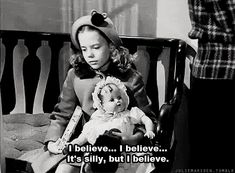 Miracle on 34th Street (1947) Quote (About xmas silly santa claus santa gifs christmas black and white believe)