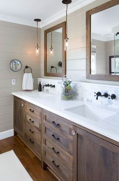 Looking to re-do your bathroom? Follow these easy DIY bathroom upgrades that involve very little money and minimal work.