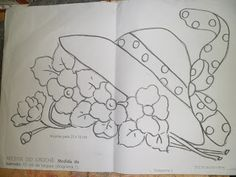 Pincel que brilha Cantinho da Arte: Riscos de flores