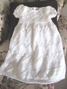 Snowflake Lace Christening Gown