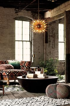 Exposed brick. .juxtaposition of the contrasting patterns..Well done..
