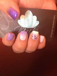 Purple! Cause we're so royal. #nails #manicure #nail art