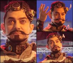 Can you guess why Aamir Khan is sporting a funky look?