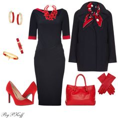 """""""Navy & Red"""" by pkoff on Polyvore"""