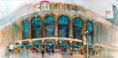 Home of the Mets, Queens, New York Print, 10 x 20 from Original Watercolor OPTION 1 - Kodak Paper Image Size: Centered on page Paper Size: 10 w x 20 H ●●●●●●●●●●●●●●●●●●●●●●●●●●●●●●●● OPTION 2 - (GICLEE) Image Size: Centered on page Size: 10 w x 20 H Each original watercolor is scanned as a digital file.... then printed on archival paper with canon inks. Print will be shipped, in a clear poly bag protected by sturdy cardboard. If you want to know more about me. You can check my website...