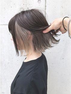 Hidden Hair Color, Two Color Hair, Hair Color Streaks, Hair Dye Colors, Hair Color For Black Hair, Short Bleached Hair, Black Hair Aesthetic, Medium Hair Styles, Long Hair Styles