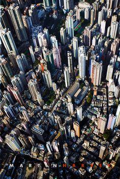 Hong Kong skyscrapers by Martin Harvey