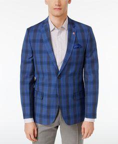 Ben Sherman Men's Slim-Fit Plaid Sport Coat - Blazers & Sport Coats - Men - Macy's