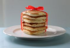 love heart pikelet stack for valentine's