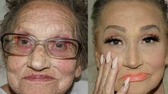 """This Grandma's Glam Transformation Proves the Power of Contouring: Makeup artist Tea Flego's unbelievable transformations are making her 80-year-old """"glam-ma"""" a viral sensation."""