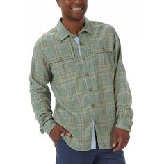 This great-looking shirt doesn't shirk when it comes to reliable, travel-friendly performance. Our Bayside Blend is made from linen, which delivers cool breathability, and rayon, which delivers no-fuss, long-lasting wearability. We've also added great details, including tonal stitching, tabbed roll-up sleeves, and dual chest pockets with flange button closures.