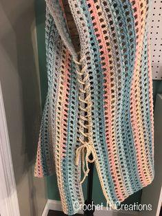 Check out this simple, no sew Crochet Swim Suit Cover Up Crochet Pattern by Croc. - Check out this simple, no sew Crochet Swim Suit Cover Up Crochet Pattern by Croc. Check out this simple, no sew Crochet Swim Suit Cover Up Crochet P. Cardigan Au Crochet, Gilet Crochet, Crochet Motifs, Basic Crochet Stitches, Crochet Basics, Crochet Cardigan, Crochet Shawl, Knit Crochet, Crochet Vests