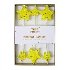 Meri Meri Toot Sweet Geburtstagskerzen Sterne - Bonuspunkte sammeln, Kauf auf Rechnung, DHL Blitzlieferung!