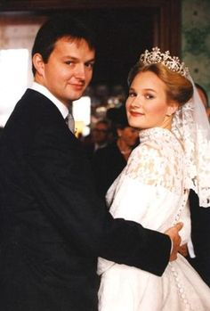 Duke Friedrich of Wurttemberg and Princess Marie of Wied on their wedding day Nov 11, 1993