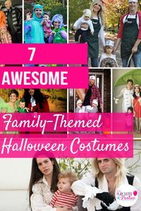 Who says costumes are just for kids. These 7 awesome family themed Halloween costumes are sure to be fun for everyone. http://playdatesparties.com/2015/10/family-themed-costumes.html