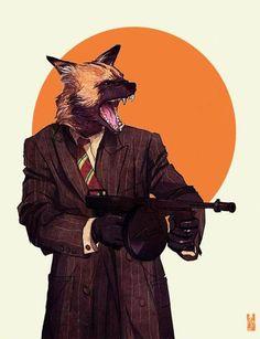 African Wild Dog: anthropomorphic animal illustrations by US-based digital artist Kim Nguyen Furry Art, Arte Furry, Art And Illustration, Animal Illustrations, Art Pop, Comic Kunst, Comic Art, Fantasy Kunst, Fantasy Art