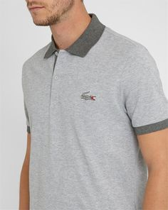 Polos gris Menlook x Lacoste, taille 3