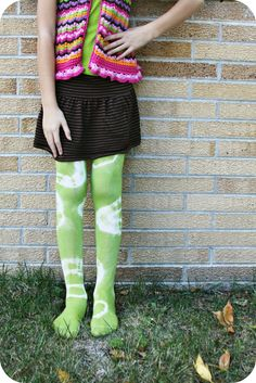 WhiMSy love: DIY: Tie-Dye Tights