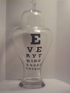 Apothecary Eye Chart Jar