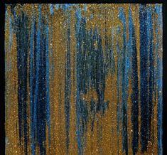 Available for sale from Avant Gallery, Gold Man, Fountains of Gold Acrylic and glitter on canvas, 24 × 24 in Glitter On Canvas, Create Words, Cosmos, Galaxies, Artsy, Gold Gold, Gallery, Artwork, Painting
