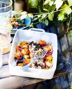 Filets mignons farcis aux olives et fruits rôtis au miel pour 6 personnes - Recettes Elle à Table