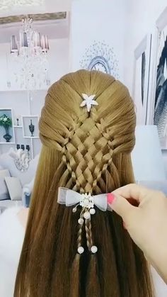 Easy Hairstyle Video, Long Hair Video, Easy Hairstyles For Long Hair, Creative Hairstyles, Up Hairstyles, Hairstyle Tutorials, Hair Up Styles, Natural Hair Styles, Hair Videos
