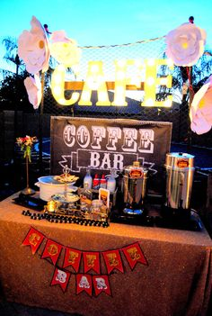 Hollywood PARTY - Movie - COFFEE BAR BACKDROP
