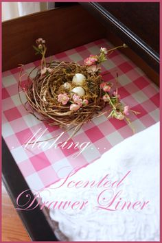 StoneGable:: DIY:: Heavenly Scented Drawer Liner