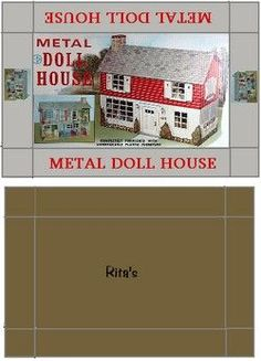 printable dollhouse box  - j stam - Picasa Web Albums