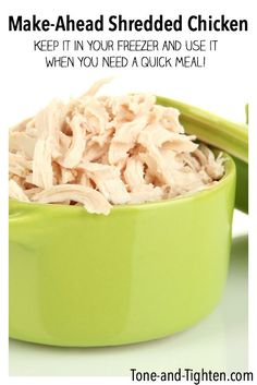 Make Ahead Shredded Chicken from Tone-and-Tighten.com