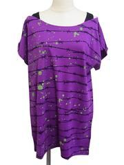 Barbed Wire Pattern T-Shirt One-Piece Purple. See more at: http://www.cdjapan.co.jp/apparel/superlovers.html #harajuku #SUPERLOVERS