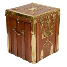 Brass-Trimmed & Studded Hat Box, England, 19th C......Fantastic!