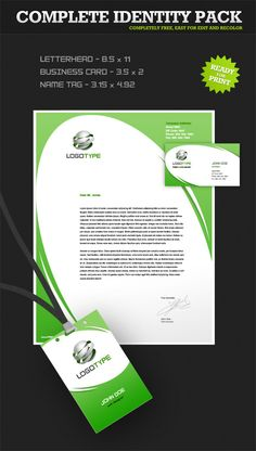 Corporate identity PSD pack designed in green color scheme. Download our complete identity set for free! Continue reading →