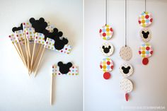 DULCESOBREMESA: Detalles de Mickey y Minnie / Mickey & Minnie Favors                                                                                                                                                     Más