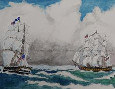 Watercolor, Tall Ships, Watercolor Print, Nautical Painting, Original Art, Naval…