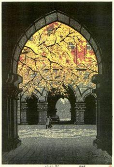 """Ginkgo Tree"", by Shiro Kasamatsu, 1965:"