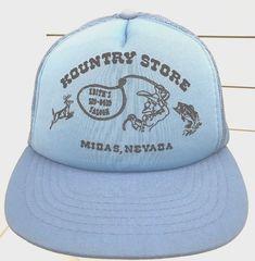 Vintage Kountry Store Midas Nevada Saloon Deer Cowboy Fish Mesh Trucker Hat   Showcase  TruckerHat 1cf059ef361d