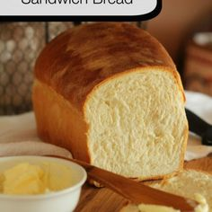 Buttermilk American Sandwich Bread -  Homemade American Sandwich bread made with real fresh ingredients like buttermilk, honey and flour. Made from scratch dough makes a perfect slice for sandwiches and toast.