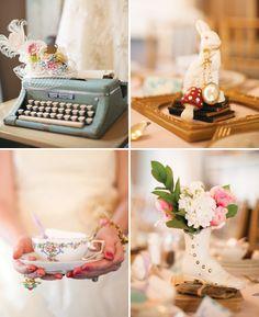 Omg Alice in Wonderland tea party Bridal shower! Yessss