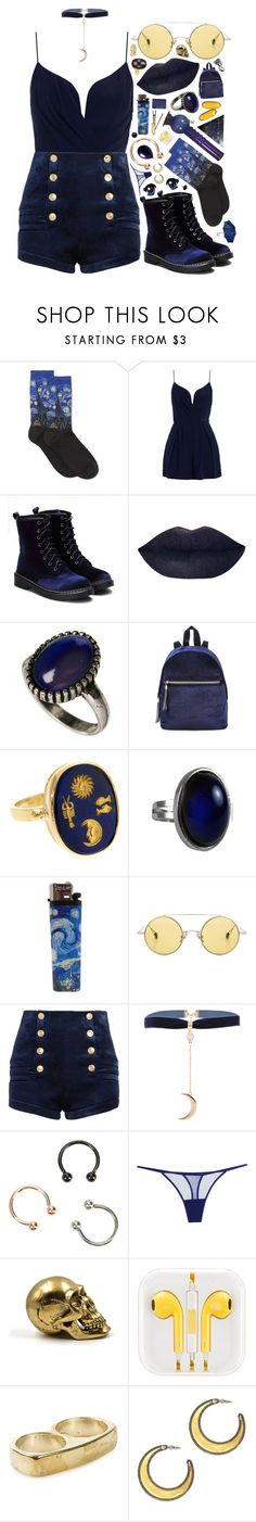 """c a p r i c o r n"" by shattered-tempest ❤ liked on Polyvore featuring HOT SOX, Zimmermann, ASOS, Anello, Ahlem, Pierre Balmain, Hot Topic, Cosabella, Nelly Accessories and House of Harlow 1960"