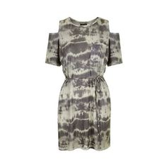 TopShop Tie-Dye Tee Dress ($38) ❤ liked on Polyvore featuring dresses, multi, oversized t-shirt dresses, oversized dress, tye dye dress, tie dye t shirt dress and tie die dress