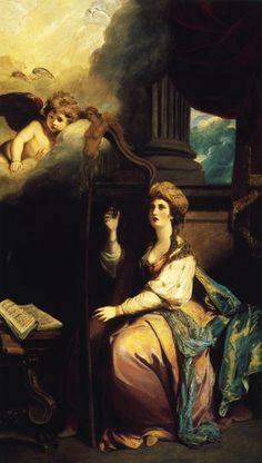 St. Cecillia (1775)  Joshua Reynolds  Oil on Canvas  LACMA